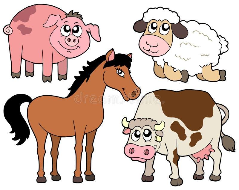 samlingsland för 2 djur royaltyfri illustrationer