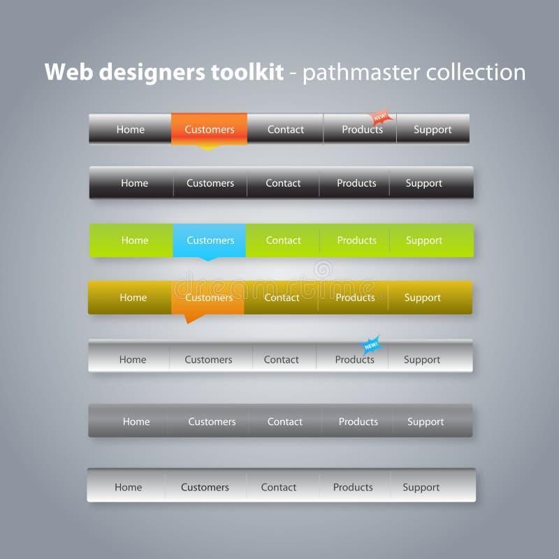 samlingsmenynavigering vektor illustrationer