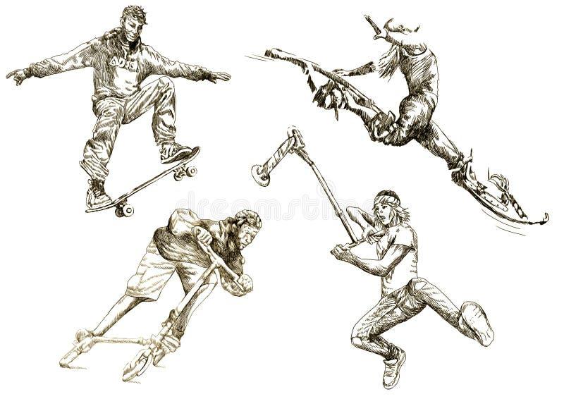 samlingssportsommar vektor illustrationer