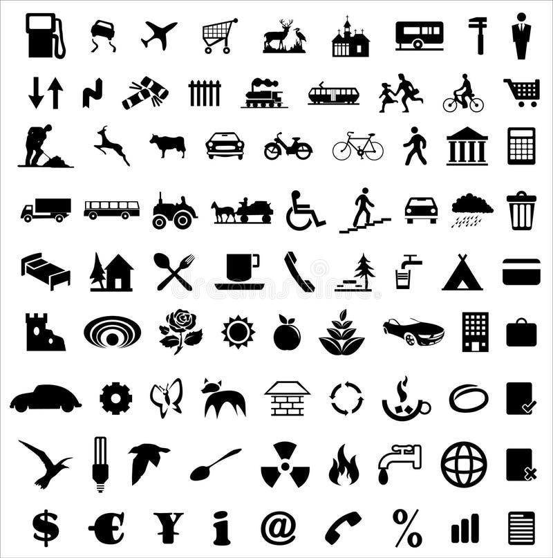 samlingssymbol stock illustrationer