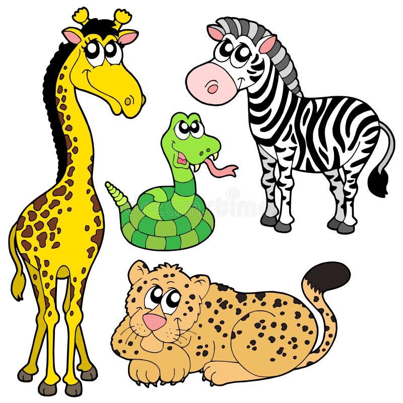 samlingszoo för 2 djur royaltyfri illustrationer