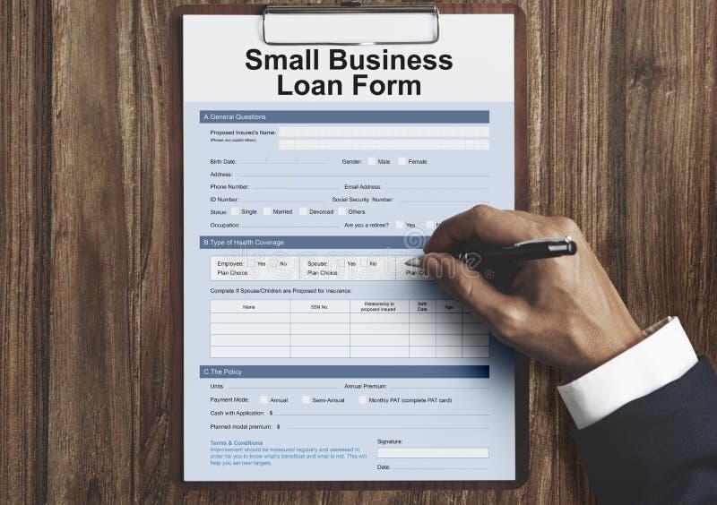 Samll Business Loan Form Tax Credits Niche Concept. Samll Business Loan Form Tax Credits Concept stock photos