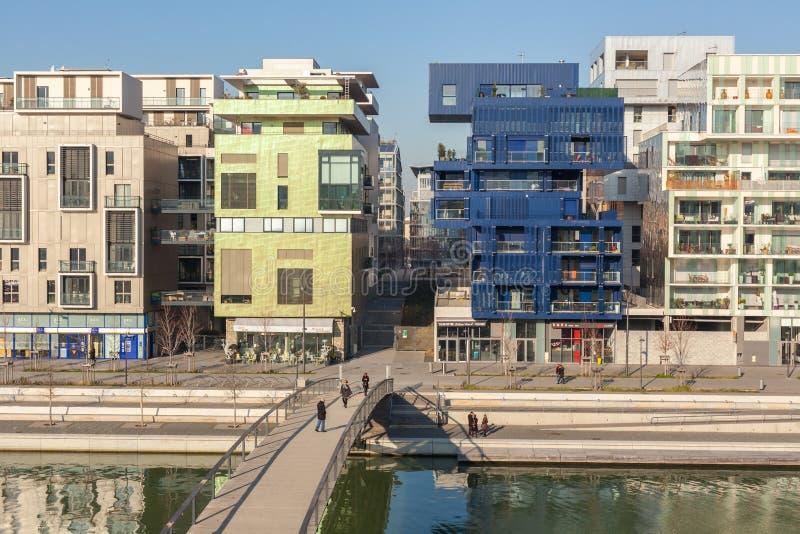 Sammanflödeområdet i Lyon, Frankrike arkivfoton