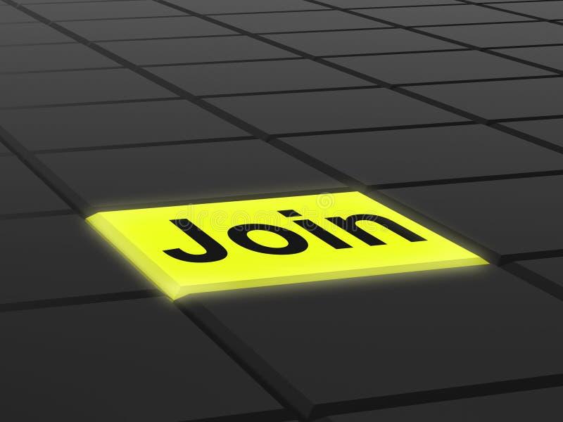 Sammanfoga knappshower som prenumererar medlemskap eller registrering royaltyfri illustrationer