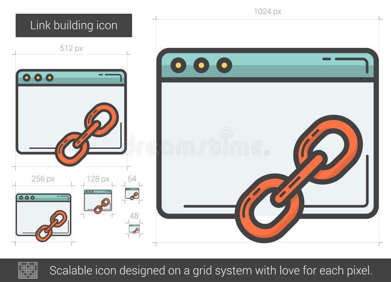 Sammanlänkningsbyggnadslinje symbol vektor illustrationer