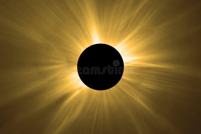 Sammanlagd sol- förmörkelse royaltyfri fotografi