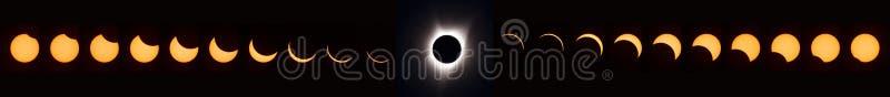 Sammanlagd sol- förmörkelse 2017 stock illustrationer