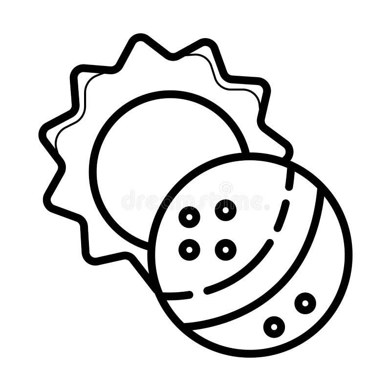 Sammanlagd symbol för sol- förmörkelse royaltyfri illustrationer