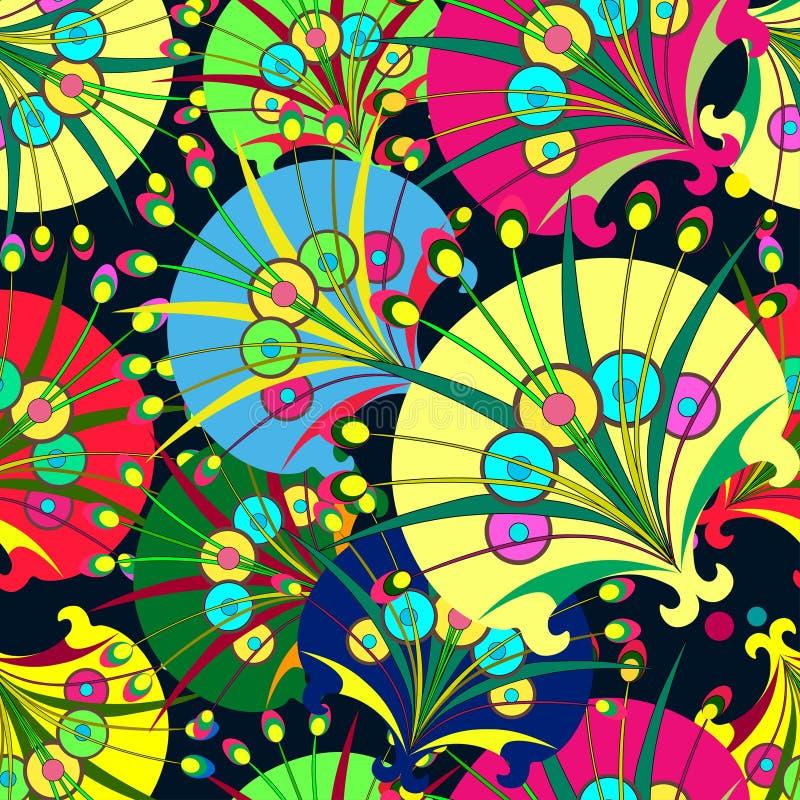 Sammansättning av dekorativa maskrosor stock illustrationer