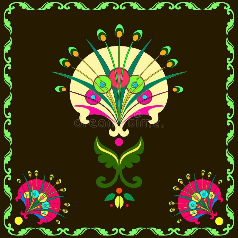 Sammansättning av dekorativa maskrosor royaltyfri illustrationer