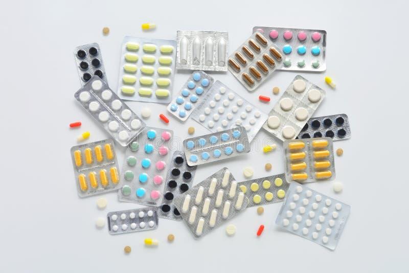 Sammansättning för bästa sikt för preventivpillerar arkivfoton