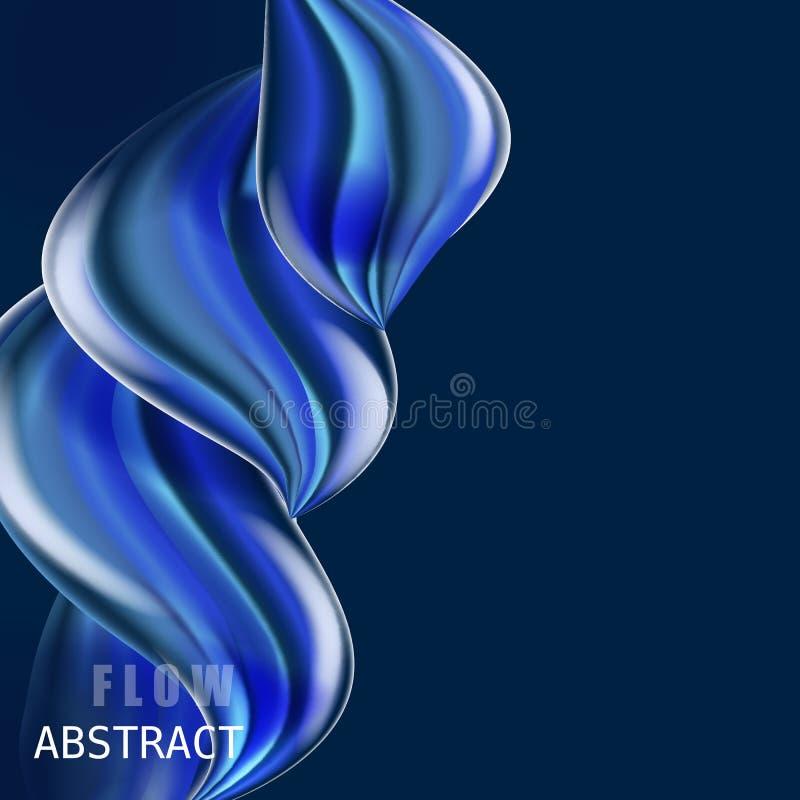 Sammansättning för flöde för modern vätskelutning färgrik Moderiktig abctract formar affischen, baner, mall Vågvätskeform in royaltyfri illustrationer