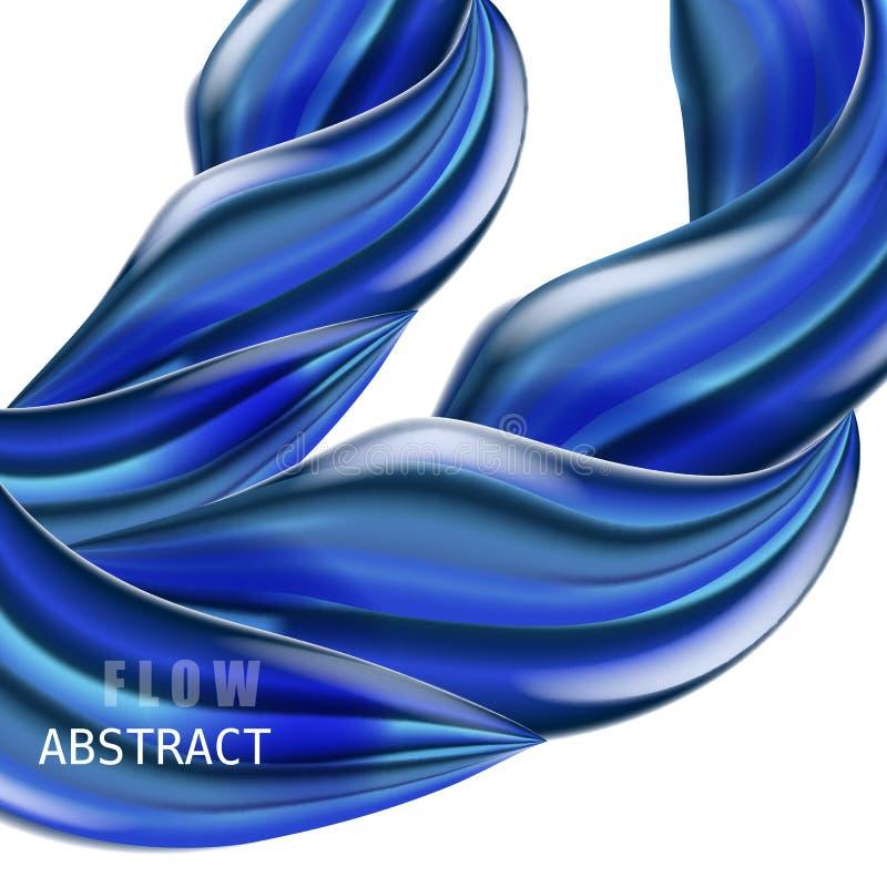 Sammansättning för flöde för modern vätskelutning färgrik Moderiktig abctract formar affischen, baner, mall Vågvätskeform in stock illustrationer