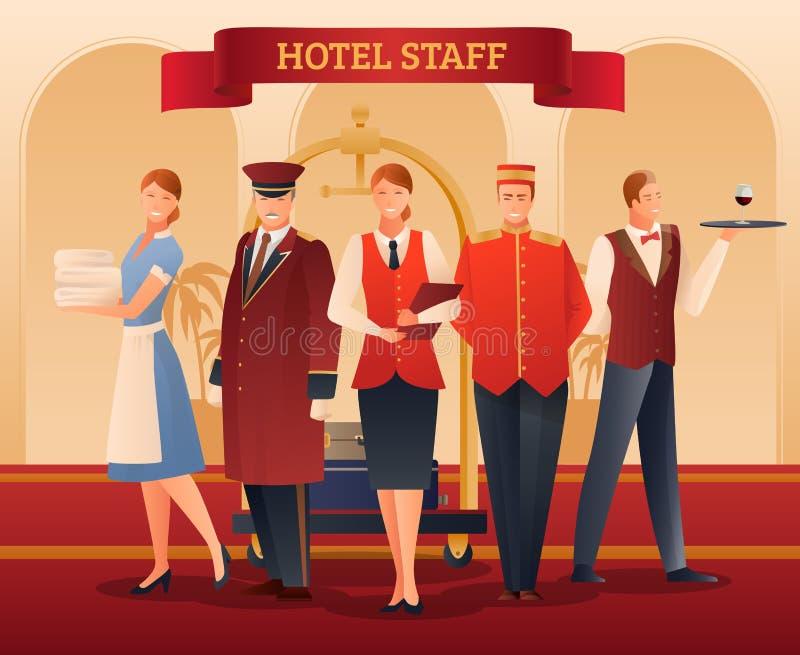 Sammansättning för hotellpersonallägenhet royaltyfri illustrationer
