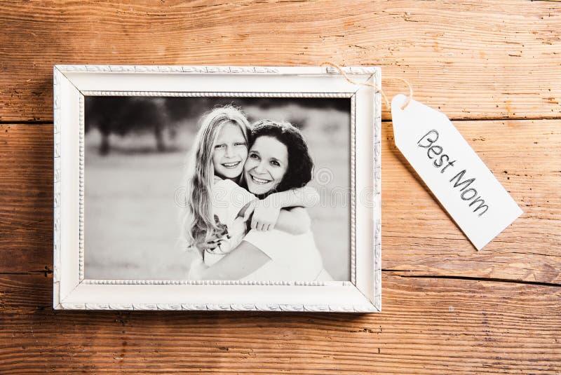 Sammansättning för moderdag Picture inramar spelrum med lampa Studi fotografering för bildbyråer