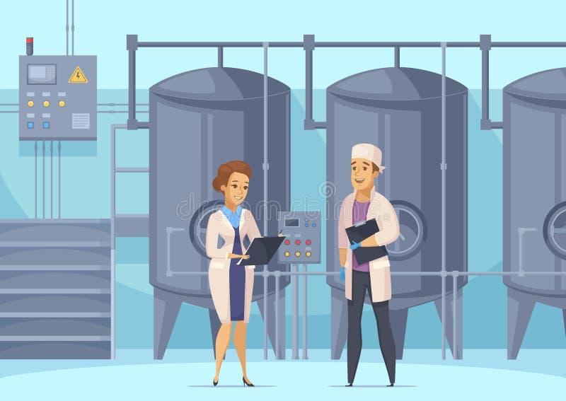 Sammansättning för tecknad film för mejeriproduktion royaltyfri illustrationer