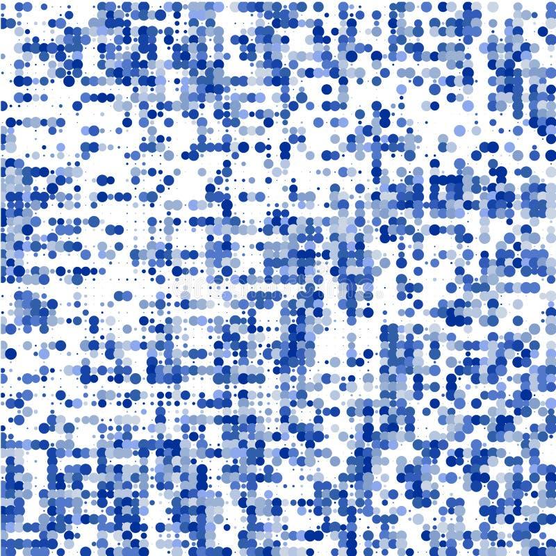 Sammansättningen från blåa prickar på vit bakgrund vektor illustrationer