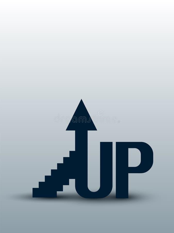 Sammansättningen symboliserar stigningen till överkanten vektor royaltyfri illustrationer
