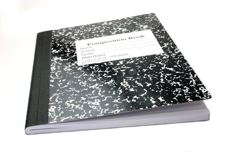 sammansättningsanteckningsbok fotografering för bildbyråer