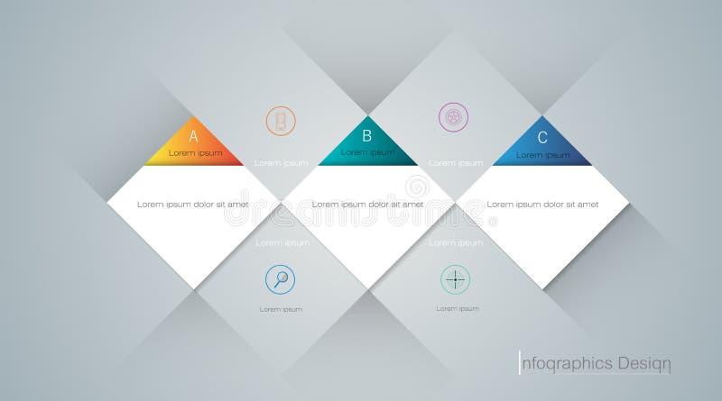 Sammansättningsmodelldesign för innehåll, infographic modern grafisk design, baner, mall, räkning vektor illustrationer