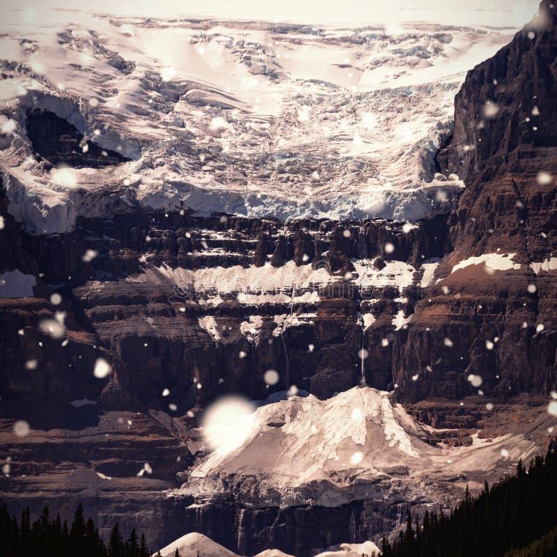 Sammansatt bild av att falla för snö arkivfoto