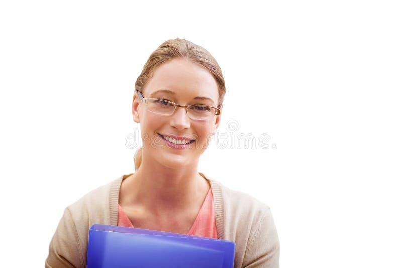 Sammansatt bild av att le för undervisningstudent royaltyfri foto