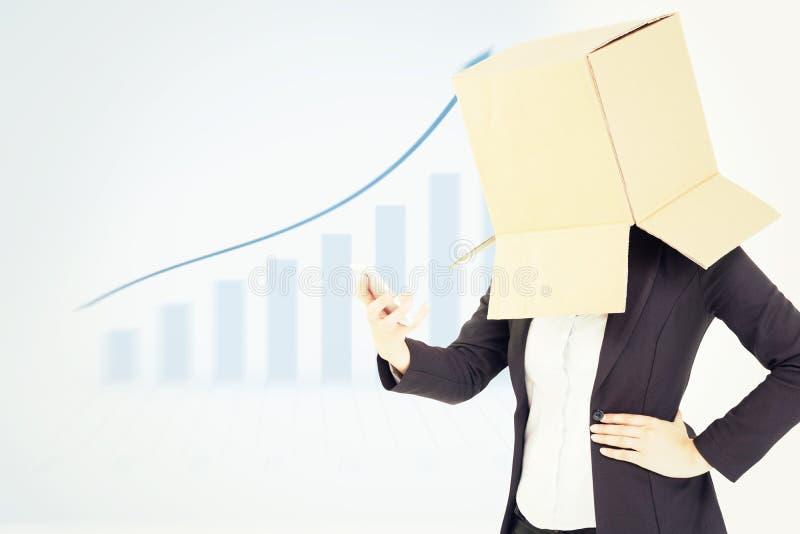 Sammansatt bild av den anonyma affärskvinnan med henne händer upp vektor illustrationer