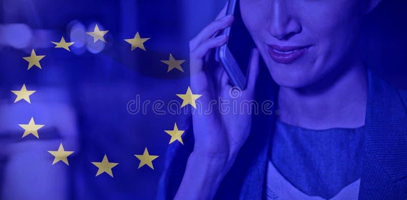 Sammansatt bild av den europeiska flaggan vektor illustrationer