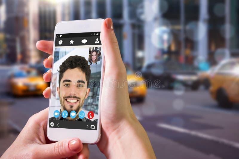 Sammansatt bild av den oskarpa New York gatan royaltyfria foton