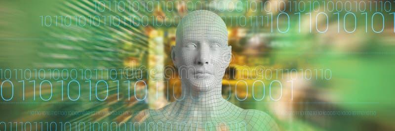 Sammansatt bild av den sammansatta bilden av den gråa mannen 3d vektor illustrationer
