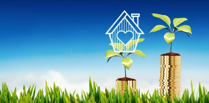 Sammansatt bild av gräs som utomhus växer vektor illustrationer