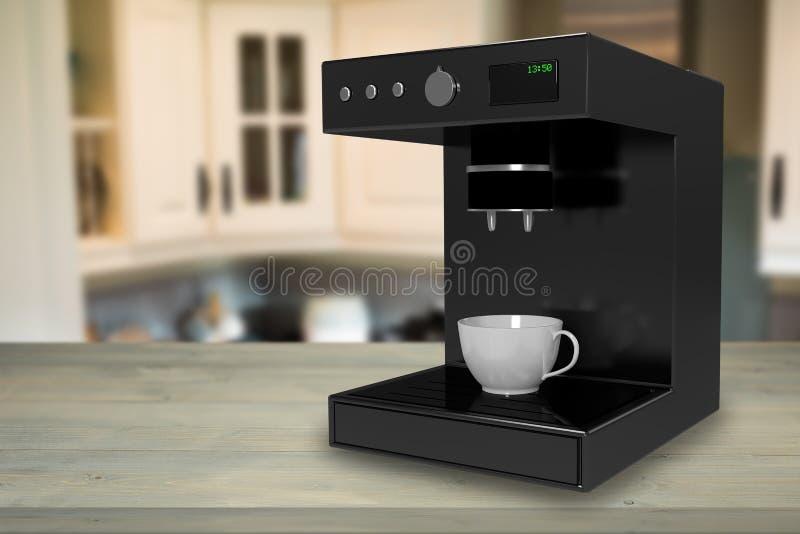 Sammansatt bild av kaffebryggaremaskinen 3d royaltyfria bilder