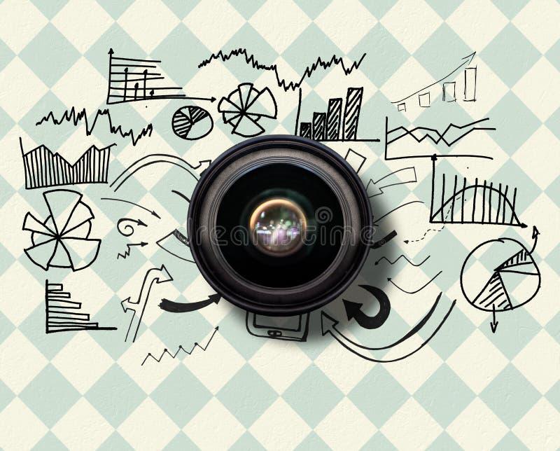 Sammansatt bild av kameralinsen vektor illustrationer