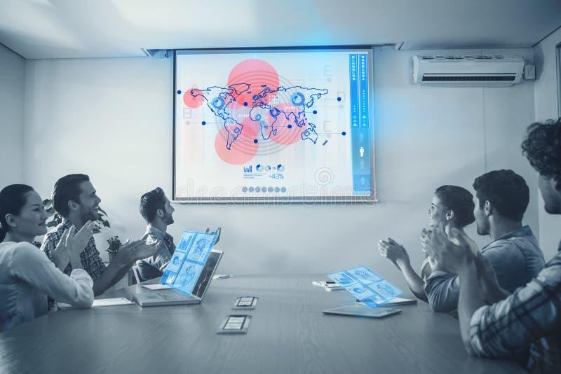 Sammansatt bild av manöverenheten för global affär arkivfoto