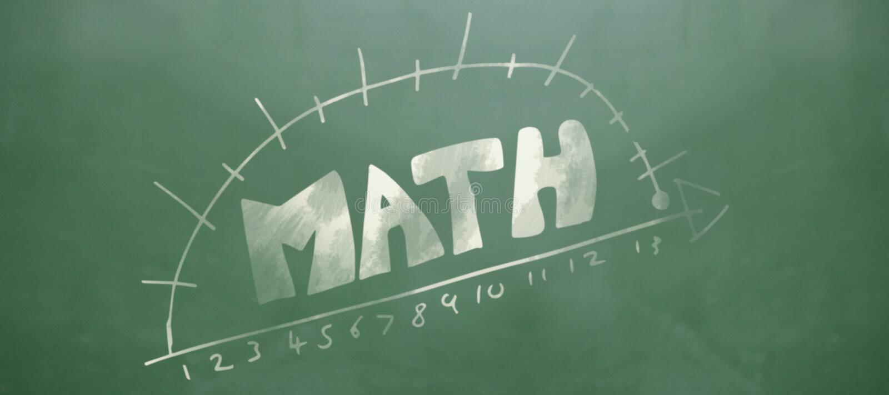 Sammansatt bild av matematiktext med diagrammet och nummer royaltyfri illustrationer