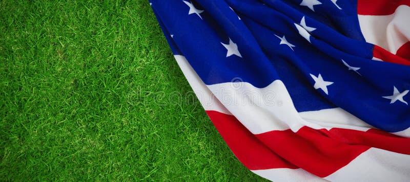 Sammansatt bild av närbilden av amerikanska flaggan royaltyfria foton