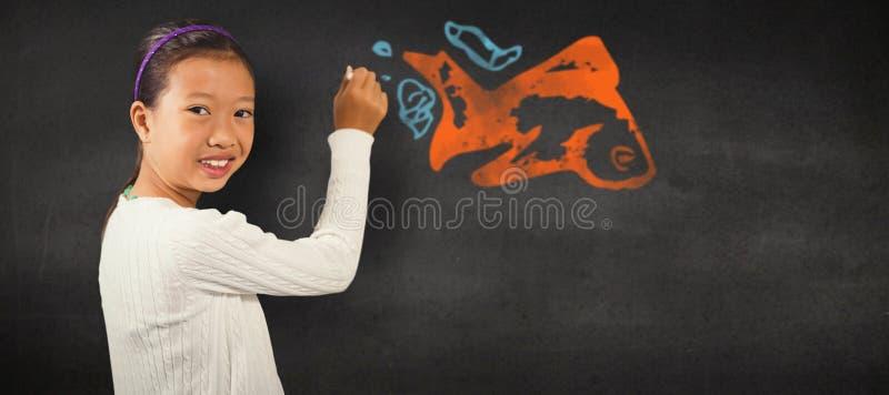 Sammansatt bild av ståenden av gullig studenthandstil royaltyfri bild