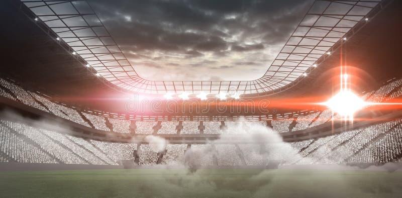 Sammansatt bild av stadion vektor illustrationer