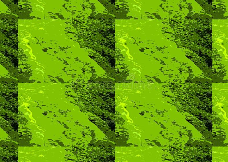 SAMMANSATT TEGELPLATTABILD AV GRÖN ABSTRAKT MARMORERA TEXTUR vektor illustrationer