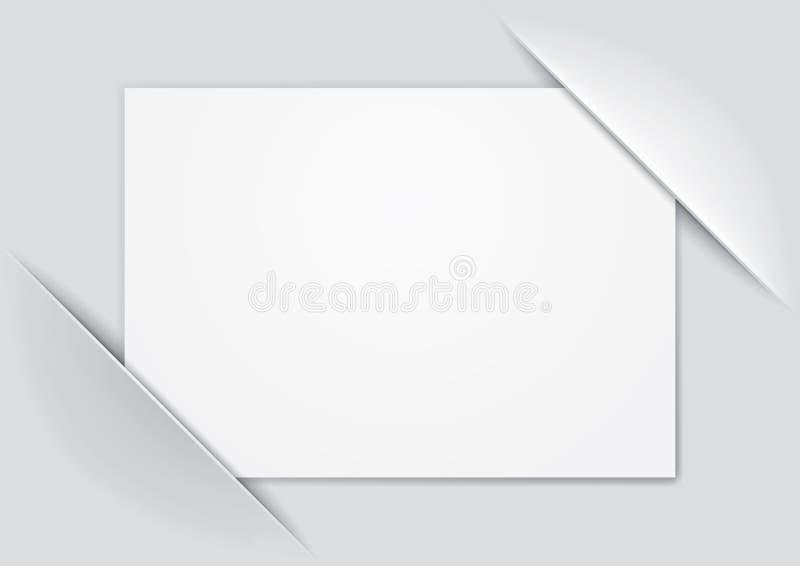 sammansatt tom sida vektor illustrationer