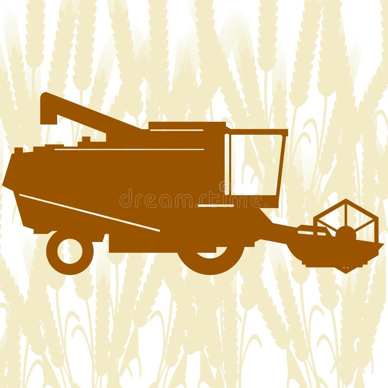 Sammanslutning Harvester-1 stock illustrationer