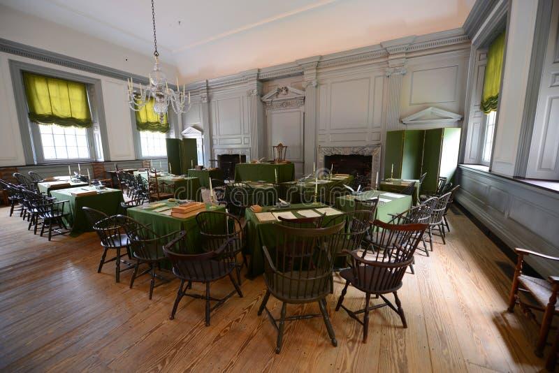 Sammanträdesrum i självständighet Hall, Philadelphia royaltyfri foto
