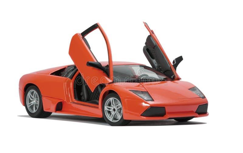 Sammelbares Spielzeugsportwagenmodell stockbild