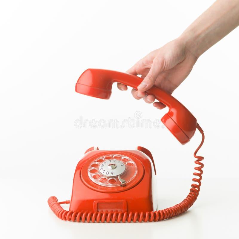 Sammeln upt das Telefon stockbild