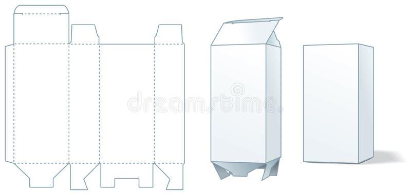 Sammelpackprägedruck - drei Jobstepps der Herstellung vektor abbildung