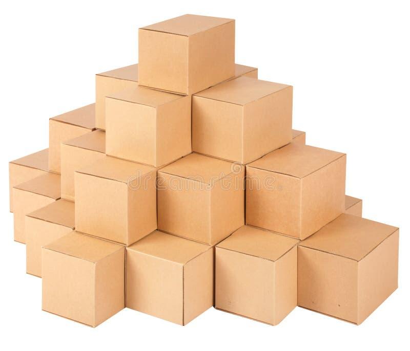 Sammelpacks. Pyramide von den Kästen stockbild