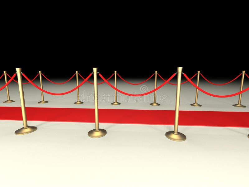 sammet för röda rep för matta arkivfoton