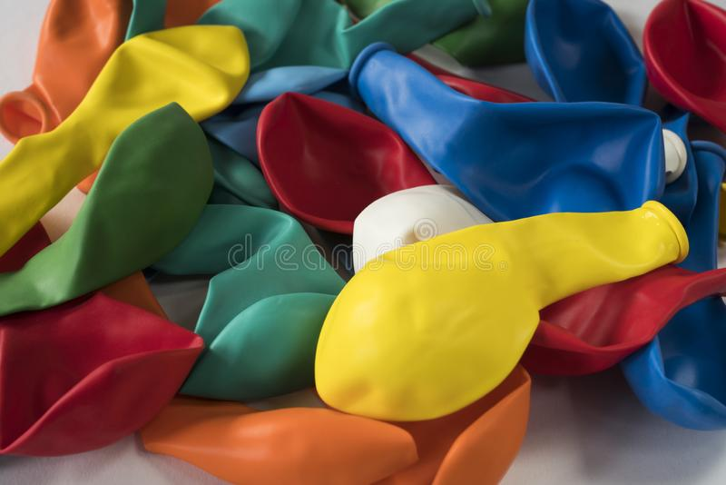 Sammlung aufblasbare flache Ballone stockfotografie