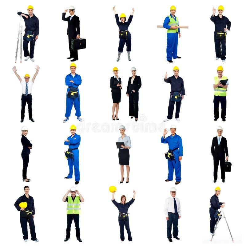 Sammlung Bauarbeiter lizenzfreie stockbilder