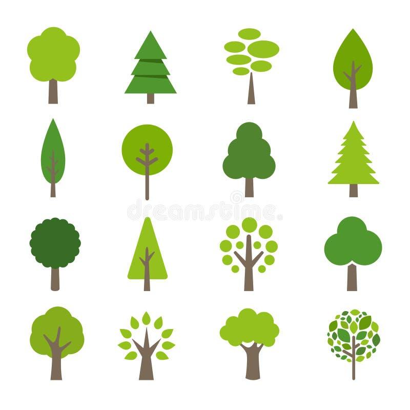 Sammlung Baum-Ikonen stock abbildung